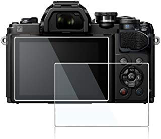 Screen Protector for Olympus OM-D E-M10 Mrak ii iii E-M1 Mark ii E-M5 Mark II E-PL8 E-PL7 E-PL9,debous Anti-Finger Tempered Glass Hard Protective Film (2pack)