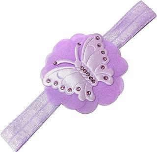 Butterfly Chiffon Headband with Swarovski Crystals for Baby Girls