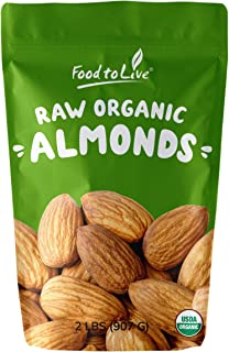 Raw Organic Almonds, 2 Pounds - Non-GMO, Kosher, No Shell, Whole, Unpasteurized, Unsalted, Bulk