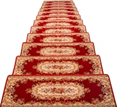 HAIPENG Rectangle Staircase Treads Carpet Pads Non-Slip Self Adhesive Mats Solid Wood Stair Step Rugs, Customized, 5 Sizes...