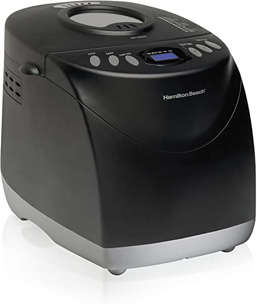 Hamilton Beach 29882 2 Lb Non Stick Bread Maker Programmable And Dishwasher Safe Includes 2 Kneading Paddles Black