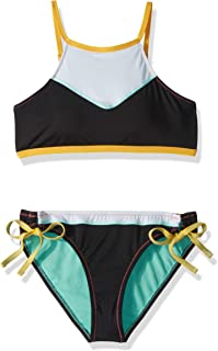 Hobie Girls Big Reversible Tank Bra /& Hipster Bottom Swimsuit Set