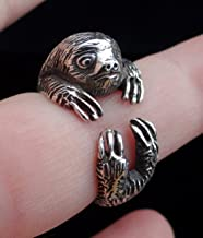 Sterling Silver Sloth Ring, Sloth Gifts, Sloth Jewelry, Silver Ring Sloth, Animal Wrap Ring, Best Gift For Her, Silver Cute Ring, Unique Jewelry, Animal Jewelry