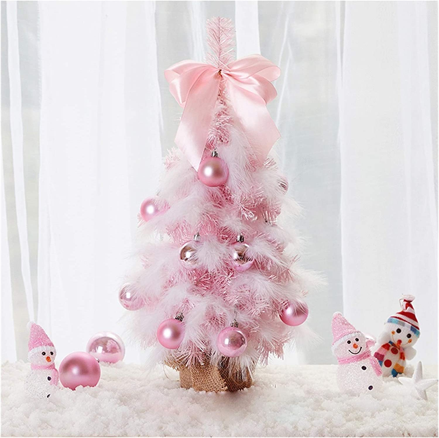 2021 autumn and winter new WPBOY Christmas Tree Pink Mini Sale price Feather Table-Top