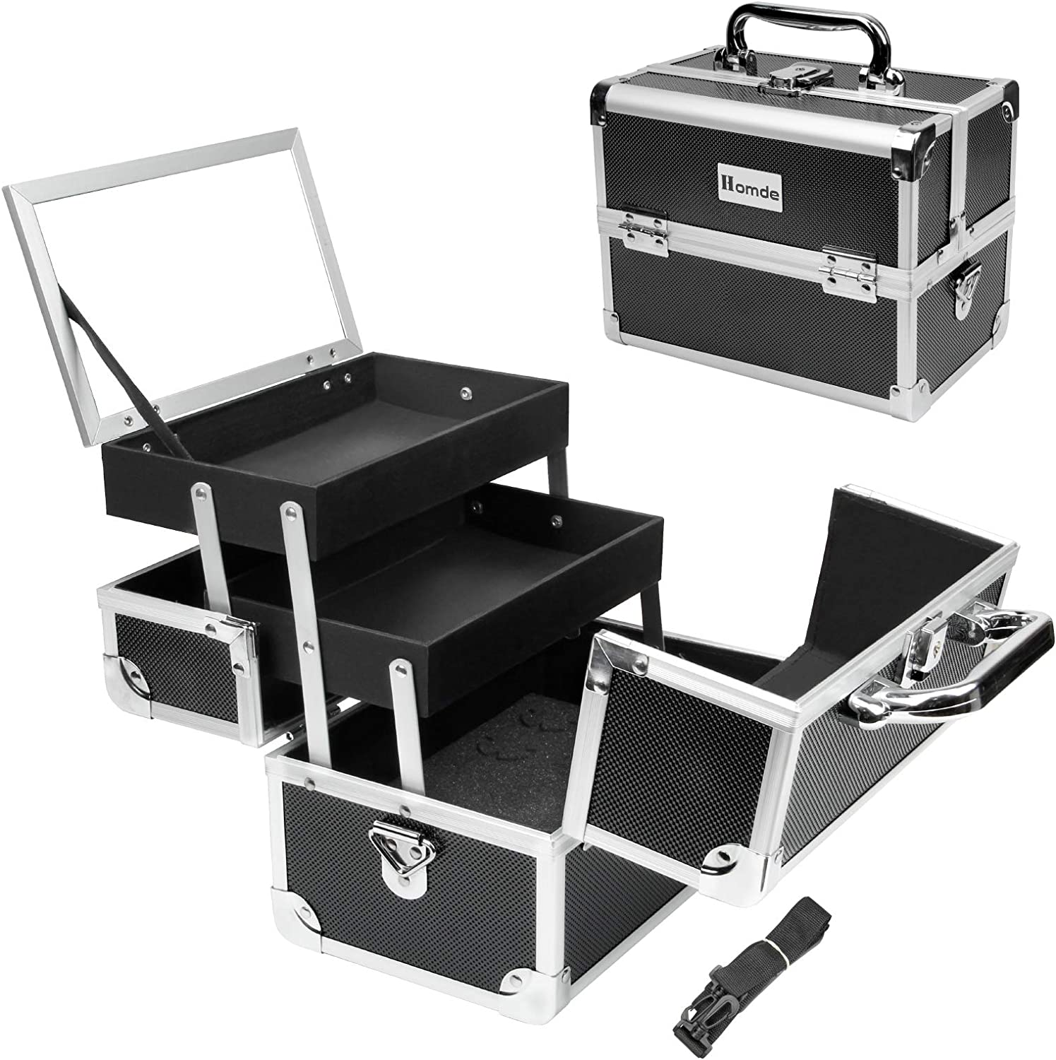 Homde Makeup sale Train Max 79% OFF Case Small Travel with Organizer Box Cosmetic