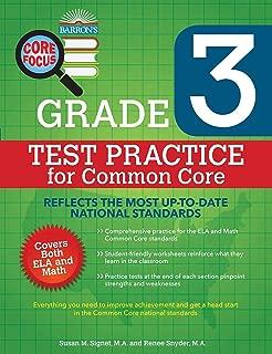 Barron's Core Focus Grade 3: Test Practice for Common Core