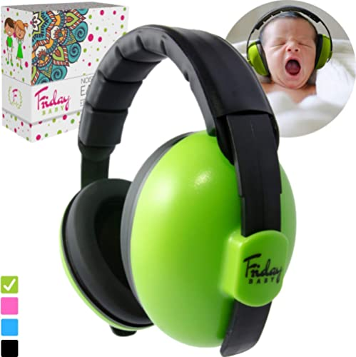 Fridaybaby Baby Ear Protection (0-2+ Years) - Comfortable and Adjustable Noise Cancelling Baby Ear Muffs for Infants ...