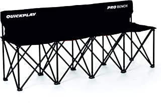 QuickPlay PRO Folding Bench – 4 Seats / 6 Seats / 9 Seats – New 2019 Model - Build to Last Sideline Bench, Soccer Bench, or Sports Team Bench