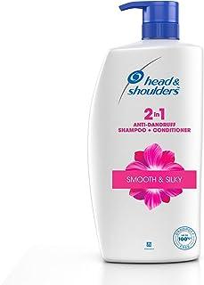 Head & Shoulders, Anti Dandruff Shampoo + Conditioner, Smooth & Silky, 1 L
