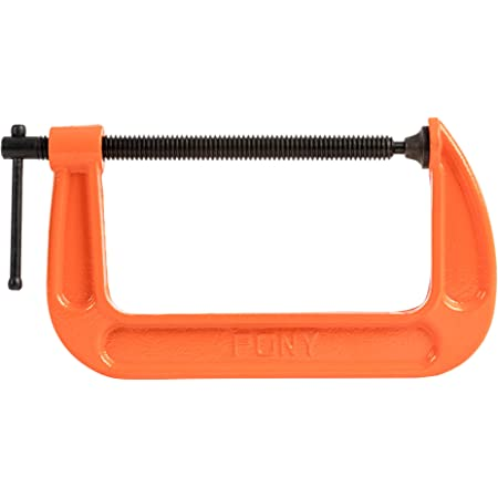 Pack of 2 Wideskall 7.5 x 3 inch Heavy Duty Malleable C Clamp