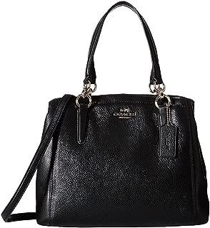 Coach Minetta Women's Black Pebbled Leather Crossbody 37157M