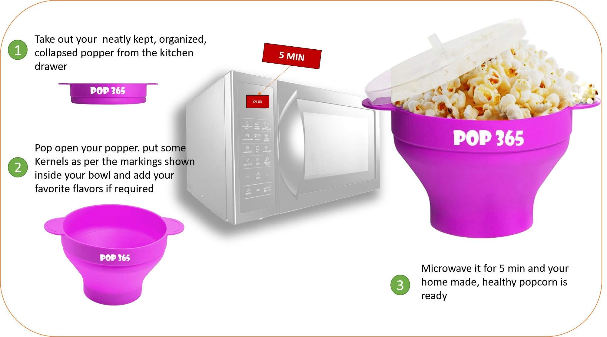microwavable pop corn popper