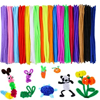 Caydo 700 Pieces Assorted Colors Chenille Stems Pipe Cleaners 6 mm x 12 Inch for Christmas DIY Art Supplies