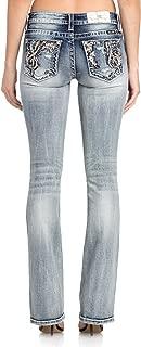 Women's Embellished Bootcut Jeans in Light Blue