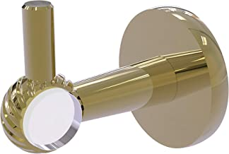 Allied Brass CV-20T-UNL Clearview Collection Robe Hook with Twisted Accents Unlacquered Brass