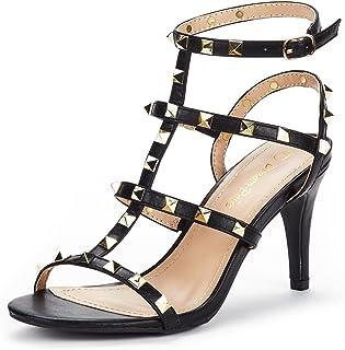 64fd0a70ce DREAM PAIRS Women's HEROINEE Fashion Stilettos Open Toe Pump Heeled Sandals