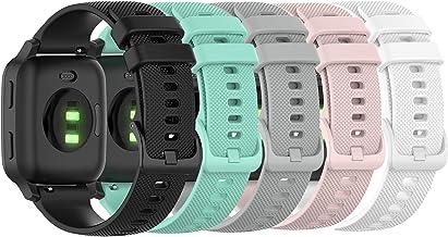 Bands Compatible with Garmin Venu/Venu Sq/Venu Sq Music Band Silicone Quick Release Straps 20MM Replacement Wristband (Bla...