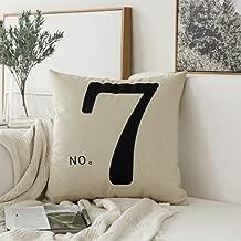 MIULEE No.7 Cotton Linen Decorative Throw Pillow Case Cushion Cover Pillowcase for Sofa Bed Car 18 x 18 Inch 45 x 45 cm