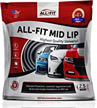 All-Fit Automotive 2.5 Inch Universal Bumper Lip Splitter Kit - Chin Spoiler Protector for Front or Rear - Lips Protect and Cover Lower Bumper for a Dropped Look - Universal Fit - Red