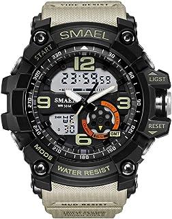 Luxury men Watch Sport Men's Wristwatch LED Digital Clock Waterproof Dual Time Wristwatch Military Watch