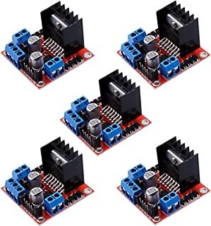 Jolicobo 5Pcs L298N Dual H-Br/ücke DC Stepper Motor Driver Motortreiber Schrittmotor Controller Modul f/ür Arduino
