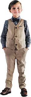 Andy & Evan Boys Formal 4-Piece Suit with Vest, Tie, Shirt and Pants