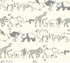 York Wallcoverings Waverly Kids Congo Line Removable Wallpaper, White/Black/Grey
