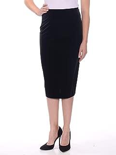 Womens Velvet Pencil Skirt