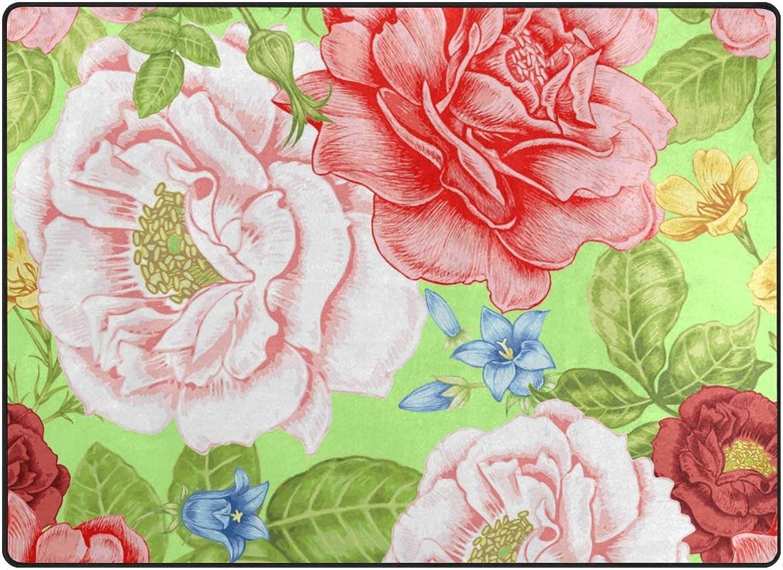 FAJRO colorful Flowers Rugs for entryway Doormat Area Rug Multipattern Door Mat shoes Scraper Home Dec Anti-Slip Indoor Outdoor