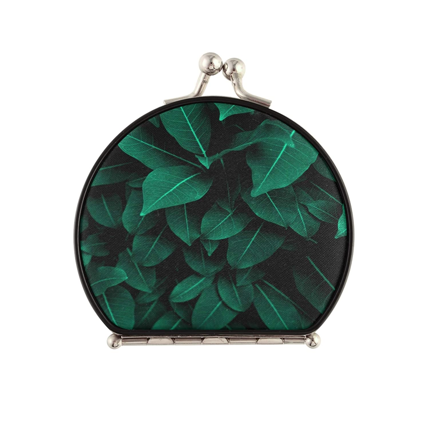 outlet CompactMirrorForMen Creative Max 76% OFF Tropical Green Leaves Com Layout