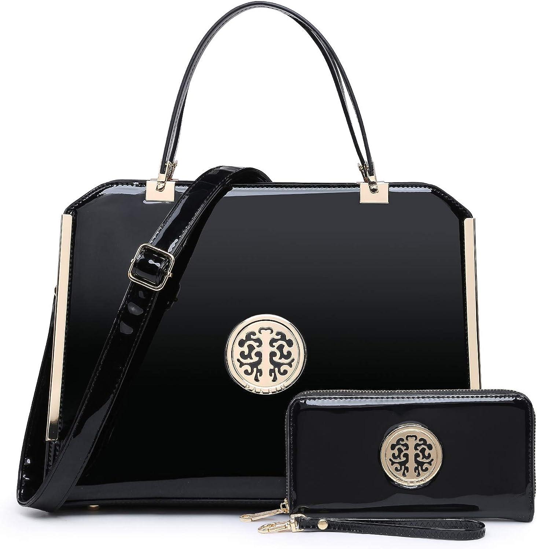 DASEIN Women Large Satchel Handbag Latest item Wor free shipping handle Top Shoulder Purse