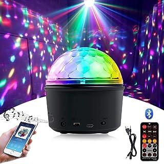 Party Disco Ball Light, Wireless Bluetooth Speaker 15W 9 Colors LED Magic Rotating Ball Disco Lights Mini Night Light with...