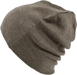cd0e9c36915 CHARM Mens Organic Cotton Beanie - Womens Slouchy Knit Hat Made in Japan