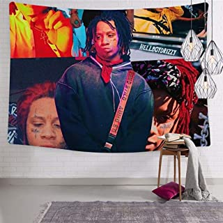 LCCKSS Trippie Rap 1400 Redd Picture Tapestry 3D Wall Hanging Home Decor Blanket Room Decoration 51.2 x 59.1 Inch