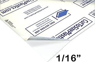 Source One Premium 1/16 Clear Acrylic PlexiGlass Sheet 12 x 12 Inches - THIN (1-Pack )