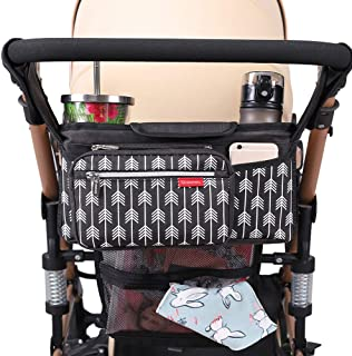 Lekebaby Baby Stroller Organizer with Insulated Cup Holders Universal Fit for All Baby Stroller Models Ulti...