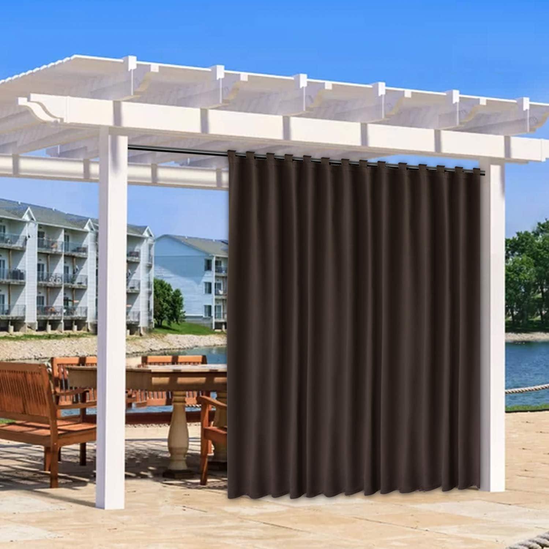 FLOWEROOM Indoor Max 66% OFF Outdoor Curtains for Patio and unisex Pergola Cabana
