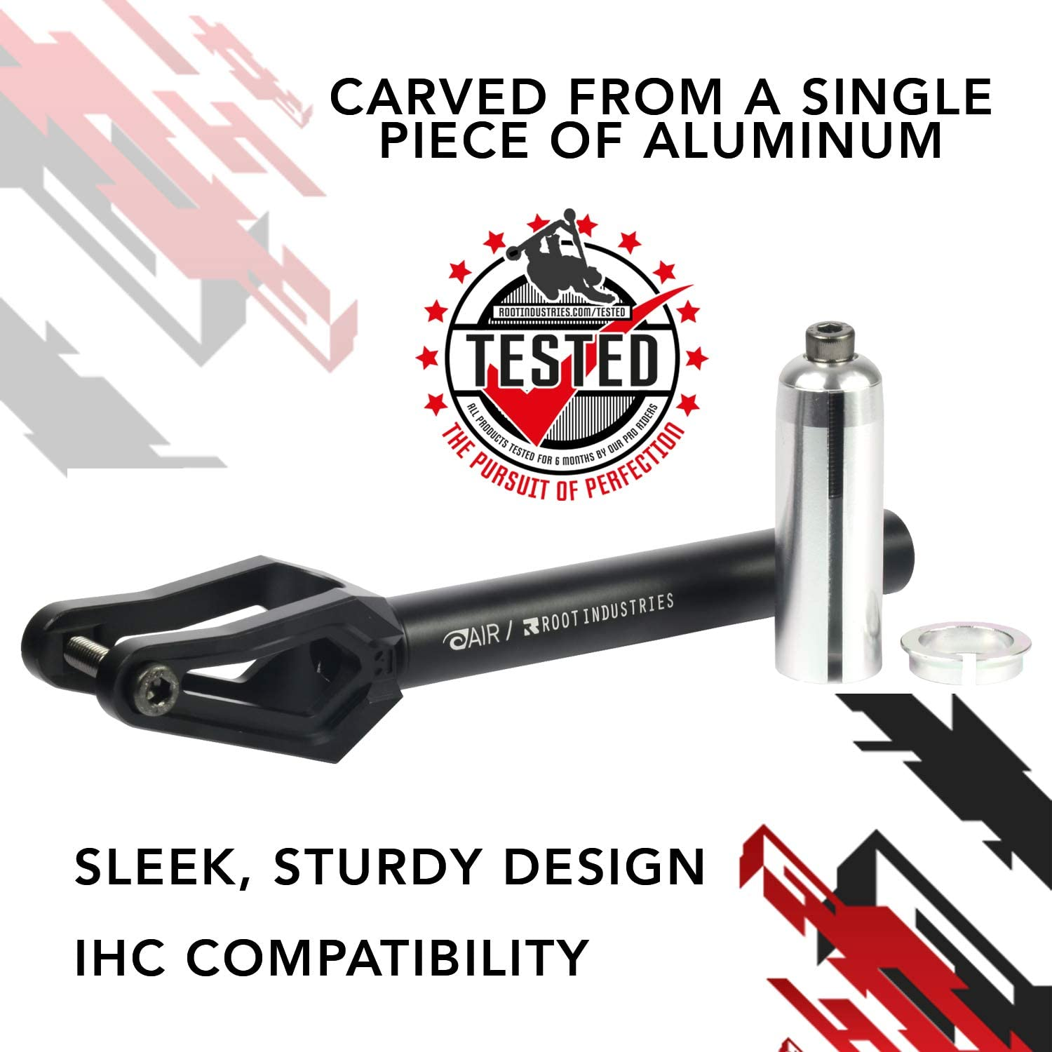 ROOT INDUSTRIES AIR Fork IHC Sleek IHC Scooter Forks for 100-120mm Scooter Wheels Scooter for Kids//Scooter for Adults Lightweight Design Fits Most Setups Durable Pro Scooter Fork
