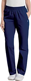 Women's Comfortable Relaxed Fit 2-Pocket Elastic Waist Scrub Pant