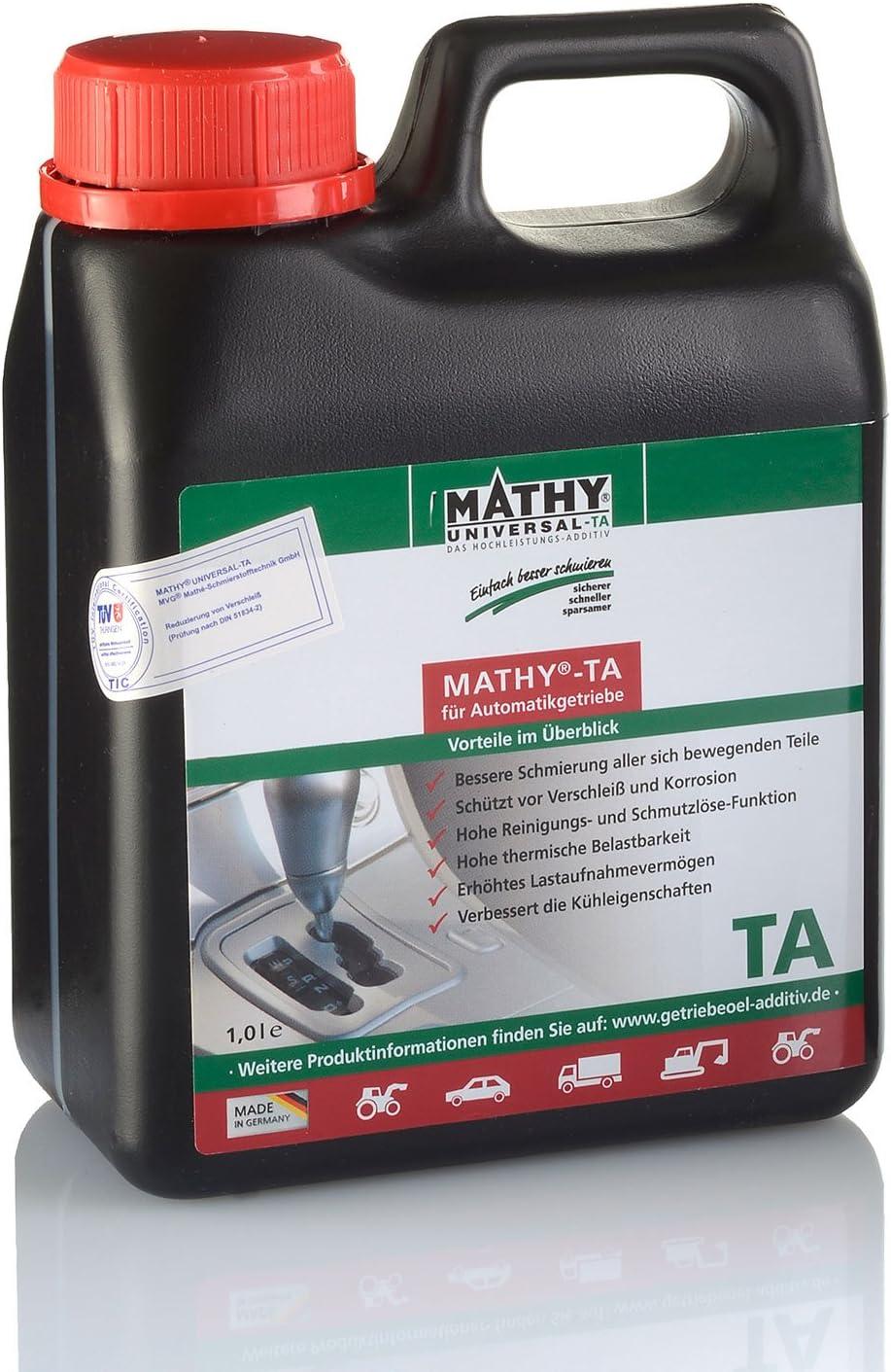 Mathy Ta Additiv Für Automatikgetriebe Zum Schutz Vor Verschleiß Und Vorbeugung Von Getriebeschäden 1 Liter Auto