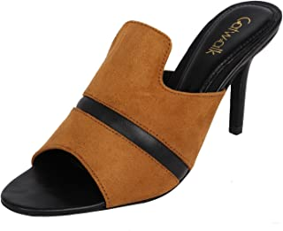 Catwalk Tan Slip-on Sandals