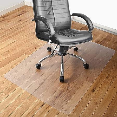 チェアマット 100×120cm 床保護マット SALLOUS ずれない 透明 PVC厚み1.5mm SGS認証済無毒エコ素材 大型デスク足元マット 傷防止 すべり止め フローリング 床を保護 机下/椅子/フロア/畳/床暖房対応/オフィス