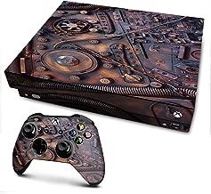 IT'S A SKIN Xbox One X Console & Controller Decal Vinyl Wrap   Steampunk Metal Panel Vault Fan Gear