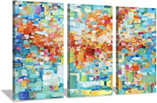 Abstract Canvas Wall Art Picture: Artwork with Gold Foil Painting Print on Canvas for Living Room (26'' x 16'' x 3 Panels)