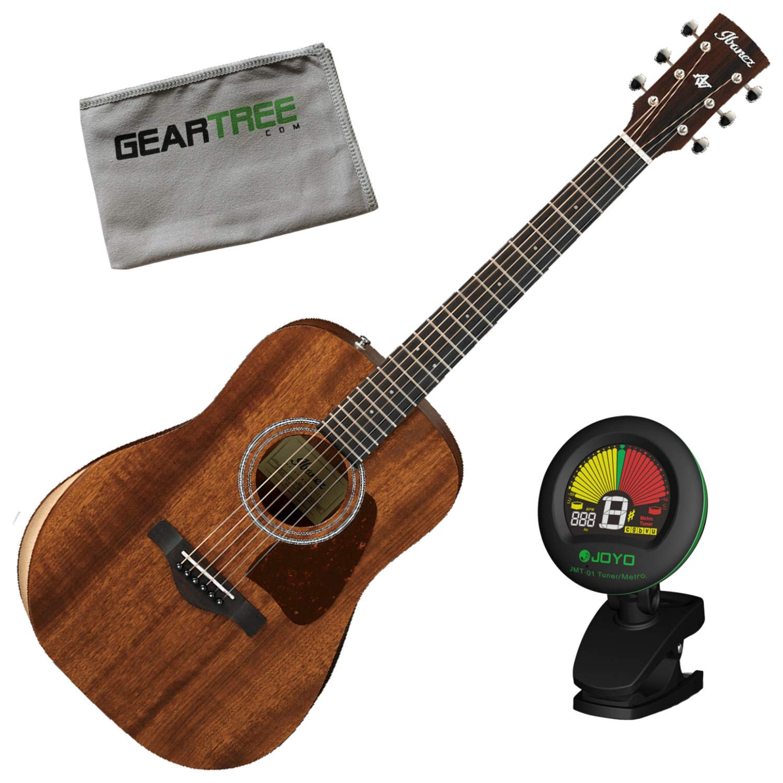 Ibanez AW54JR OPN - Guitarra acústica con afinador y gamuza ...