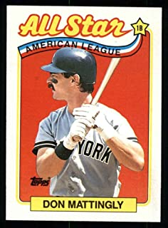 1989 Topps # 397 All-Star Don Mattingly New York Yankees (Baseball Card) Dean's Cards 8 - NM/MT Yankees