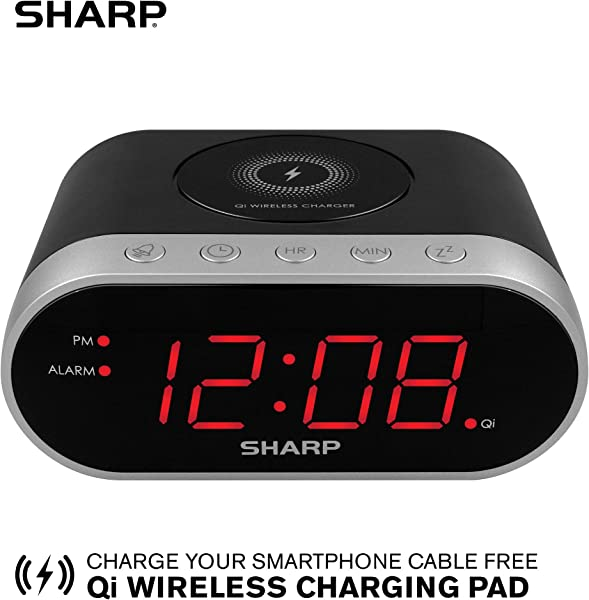Sharp SPC679A Alarm With Wireless Charging Qi Certified USB Charging For 2nd Device