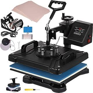 VEVOR Heat Press 12x15 Inch Heat Press Machine 5 in 1 with 100 Sheets Heat Transfer Paper Heat Press Machine for T-Shirts Hat Plate Mug Pattern Printing