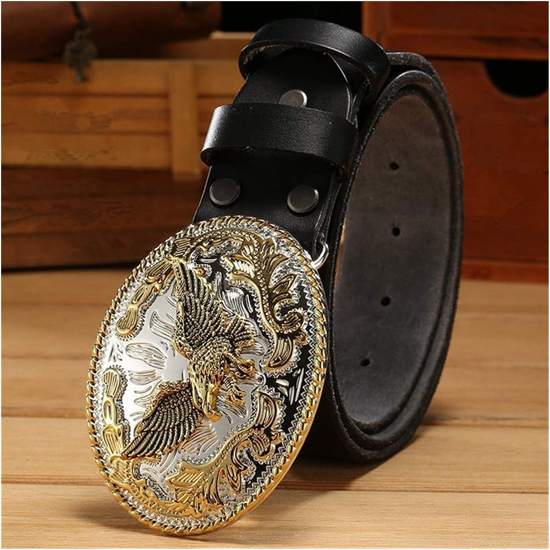 DSJTCH Gold Big Super-cheap Buckle Full Leather Real Belt Mens Ranking TOP5 Grain