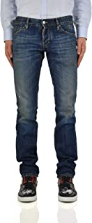 Slim Jeans Deep Sea Baby Blue Ripped Men - Size: 44 - Color: Blue - New